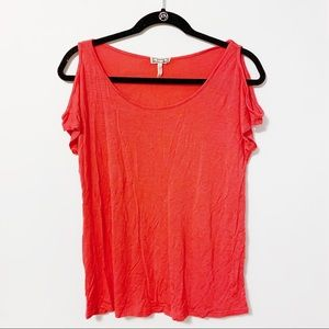Kirra pink cold shoulder top